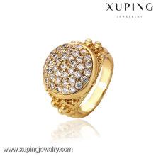 12741- Xuping Jewelry Fashion Elegant 18K Anillo chapado en oro para hombre