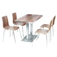 Imported Wood Finish Cafe Coffee Shop Muebles de restaurante