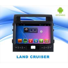 Reproductor de DVD del coche del sistema del androide para la tierra crucero pantalla táctil de 10.1 pulgadas con GPS / WiFi / Bluetooth