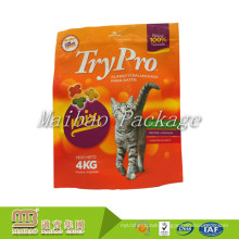 Custom Gravure Printing Resealable Top Zip Round Bottom Laminated Plastic Standup Pouch For Pet Food
