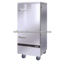 Luxo de aço inoxidável porta única máquina de arroz a vapor