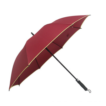 27inch 8K 190t Pongee Standard Size Personalized Customized Have Reflective Article Lamp Golf Umbrella
