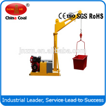 1000kgs construction mini portable crane with 25m lifting height