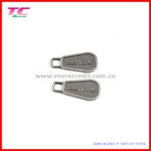 Extractor grabado personalizado de la cremallera del metal del logotipo para el bolso