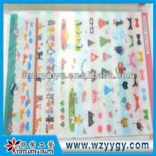 Новые непрозрачные 2013 Клей ПВХ наклейки наклейки для детей от завода