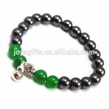 2014 New Arrival 4pcs Gemme d'Aventurine Vert Naturel Avec Perles de Thérapie Magnétique et Bracelet Pendentif Calabash