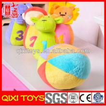 Brinquedo personalizado do bebê do luxuoso do presente relativo à promoção do logotipo