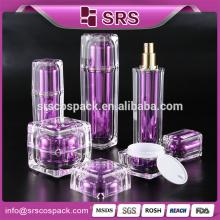 Face spray garrafa, recipientes de plástico para líquidos, cosméticos claro roxo forma quadrada loção bomba 120 ml garrafa