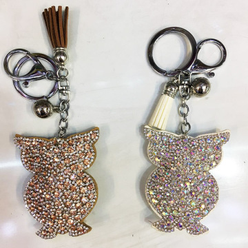 Silver Spring couleur Style hibou Keyring velours Tassel trousseau