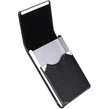 Кожаный футляр для визиток с магнитным затвором