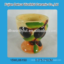 Mini, cerâmico, ovo, copo, azeitona, figura