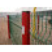 Material del marco plástico y cercado, enrejado y tipo de las puertas de la cerca de la seguridad