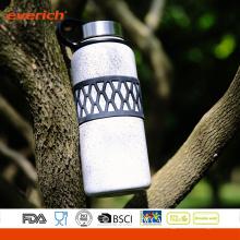 2016 Vaccum acero inoxidable doble pared popular botella de agua de deporte con la manga