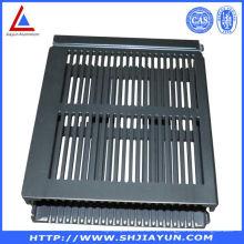 6063 Extrude gabinete de alumínio usado para elétrica