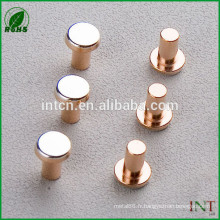 rivets de T2 cuivre solide tête plate