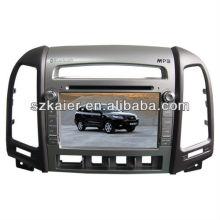 Gps de voiture usine directe pour Hyundai Santa fe avec GPS / Bluetooth / Radio / SWC / Internet virtuel 6CD / 3G / ATV / iPod / DVR