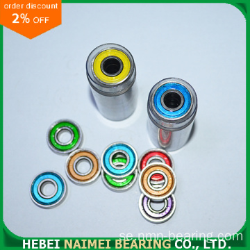 Färgad 608ZZ Deep Groove Ball Bearing