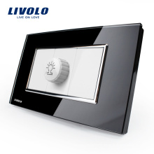 Gradateur US / AU Livolo Standard Noir / Perle Verre Cristal Perle VL-C391G-82