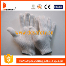 Bleach Cotton/Polyester Work Gloves, 7 Gauge with 2 Threads -Dck702
