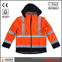 Detachable Sleeves Hi-Vis 3m Safety Jacket