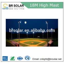 Iluminação alta de alta pressão solar brilhante do mastro da luz de inundação do sódio com luz de rua conduzida solar