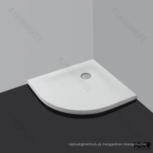 Bandeja de chuveiro composta da superfície do sólido da resina branca
