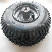 Roue de chariot de plage pneu tubeless 4.10-6 roue de chariot de golf