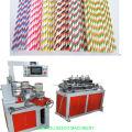 Canudos de papel biodegradáveis que fazem a máquina
