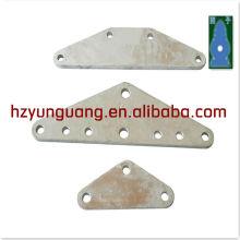fil de puissance fil ligne raccord à chaud en acier au zinc L type triangle type plaque de joug de transmission électrique ligne tour matériel