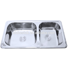 Good quality double bowl stainless steel upc sinks