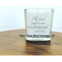 Large Jar Long Burning Candle in Clear Glass