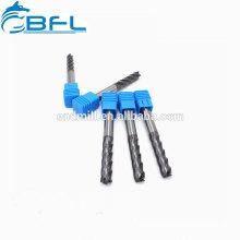 Fresas de largo alcance BFL 2 ranuras Extremos de carburo Fresas CNC Fresadora CNC