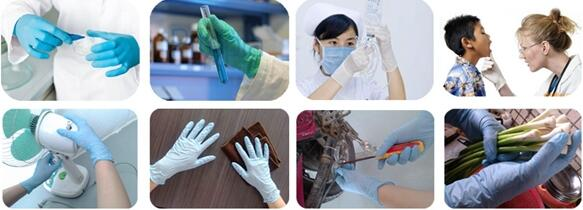 Nitrile gloves application