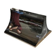 Base para pôster em painel de acrílico com 1720 mm de altura