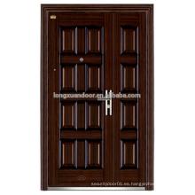 Puertas de entrada principal de hierro Puertas de entrada doble de hierro forjado