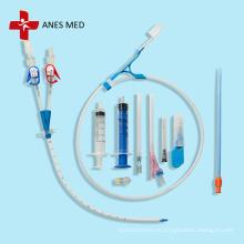 Kit de catéter de hemodiálisis de doble lumen marca ANES MED