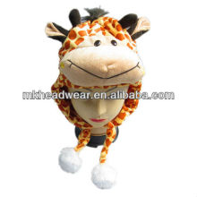 kids soft plush animal cow hat