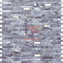 Grey Compacted Style Stone Mosaic (CFS808)
