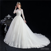 Luxury Crystal luxury china Turkey Istanbul cheapest Manufacturer Long Tail Ball Gown second hand wedding dresses for women