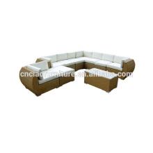 Ensemble de conversation de sofa de rotin extérieur de luxe modulaire