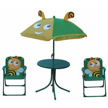 Kids portable folding garden furniture sets, children table and chairs