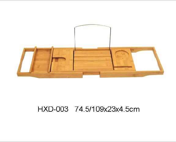bamboo bathtub tray