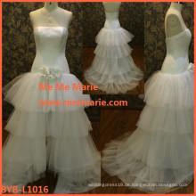Reizvolles Fußbodenlänge Hochzeitskleid China-Kunde bildete Hochzeitskleid Verkauf BYB-L1016