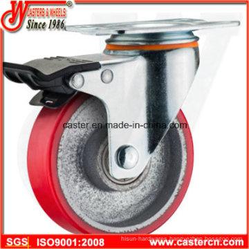 PU on Iron Total Lock Swivel Caster