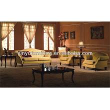 Mobiliário de lobby do hotel de madeira sofá XY2847