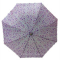 Auto Open Ladies Printing Straight Umbrella