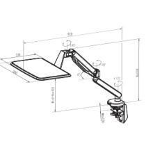 Dual Arms Desktop Mount Sitzleiste Laptop Tray (DLB772)