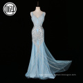 New creative sleeveless adult women's pearl party evening dress