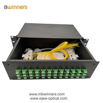 3U 72 Kerne LC Duplex Fiber Optic Termination Box Patchfeld