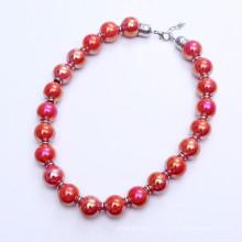 18mm große Keramik Perlen Halskette
